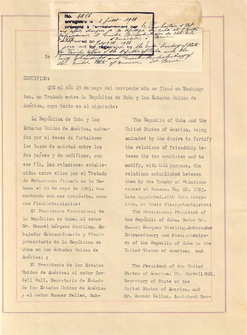 Cuban-American Treaty of Relations of 1934