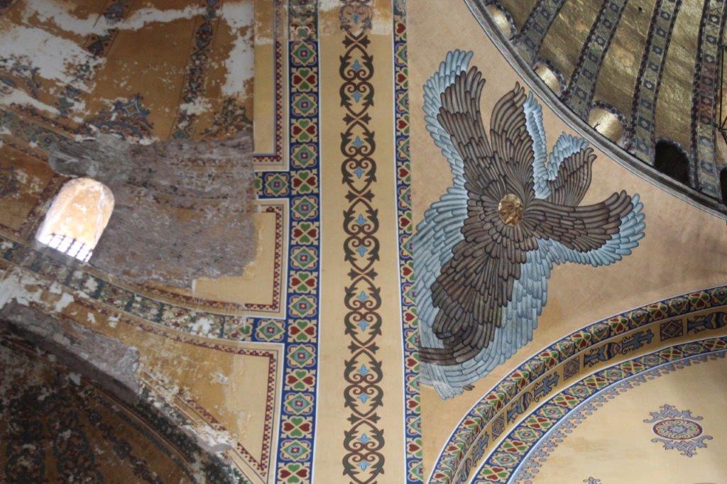 The redecoration of Hagia Sophia begins