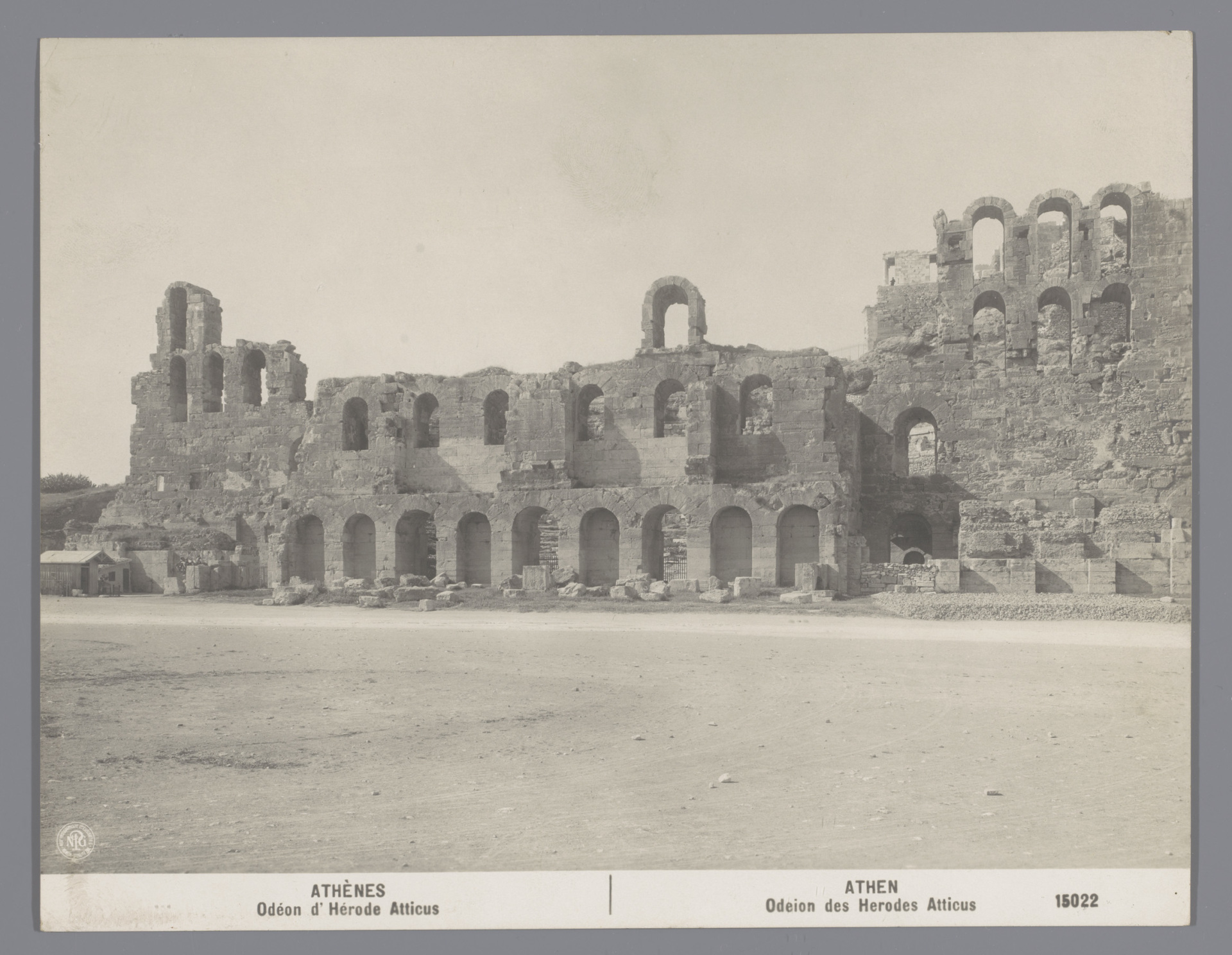 Construction of the Odeon of Herodes Atticus