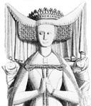 A princesa Beatriz de Portugal (filha única do rei Fernando) casa com o rei João I de Castela