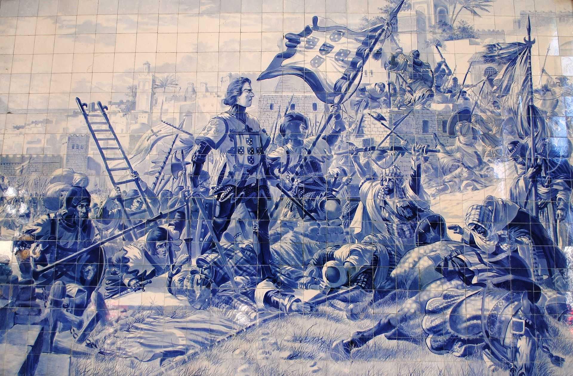 Participou na tomada de Ceuta em 1415 - (D. Afonso, 1.º Duque de Bragança)