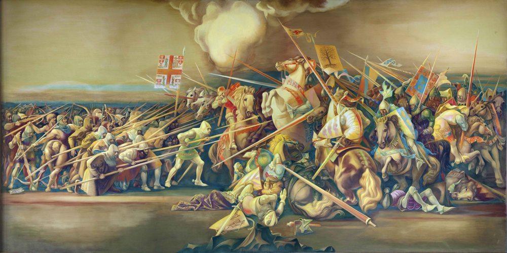 Vence os castelhanos na Batalha dos Atoleiros.