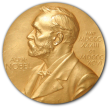 Sir W. H. Bragg and W. L. Bragg share Nobel Prize