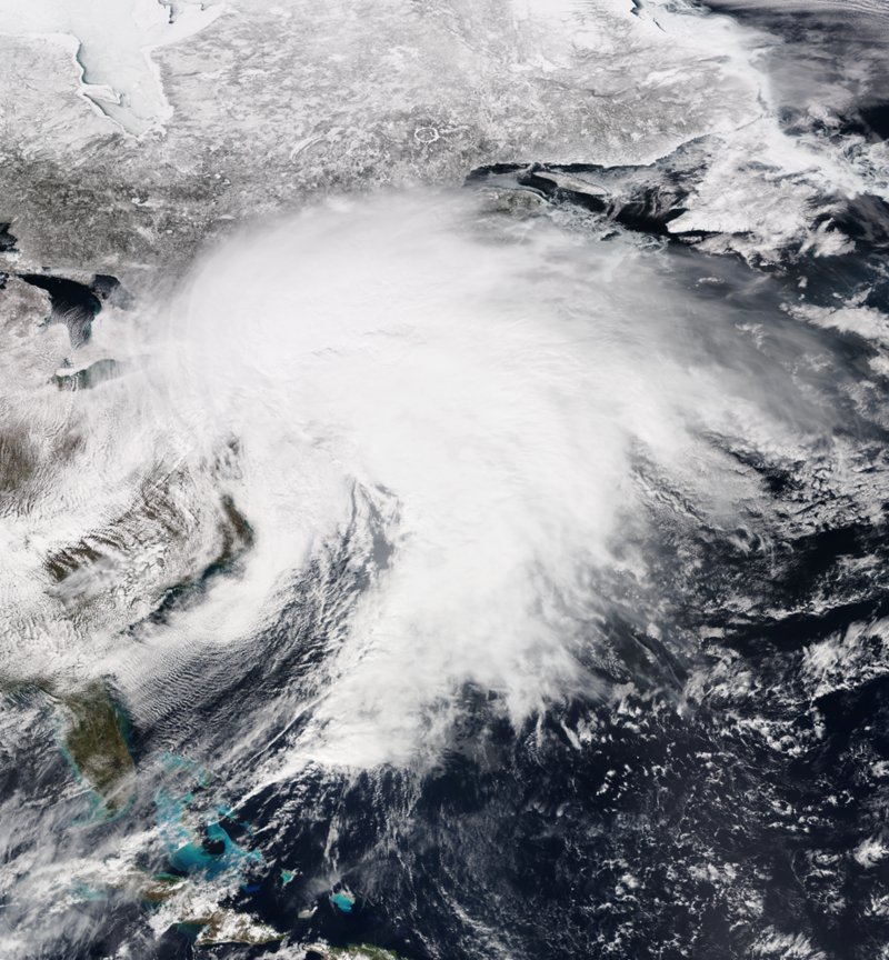 March 2017 North American blizzard, a major late-season blizzard, affects the Northeastern United States, New England and Canada, dumping up to three feet of snow in the hardest hit areas.