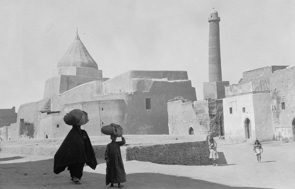 The Great Mosque of al-Nuri in Mosul, Iraq, is destroyed by the Islamic State of Iraq and the Levant.